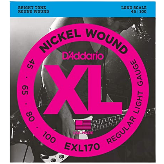 D'Addario XL Nickel Wound 45-100 Regular Light